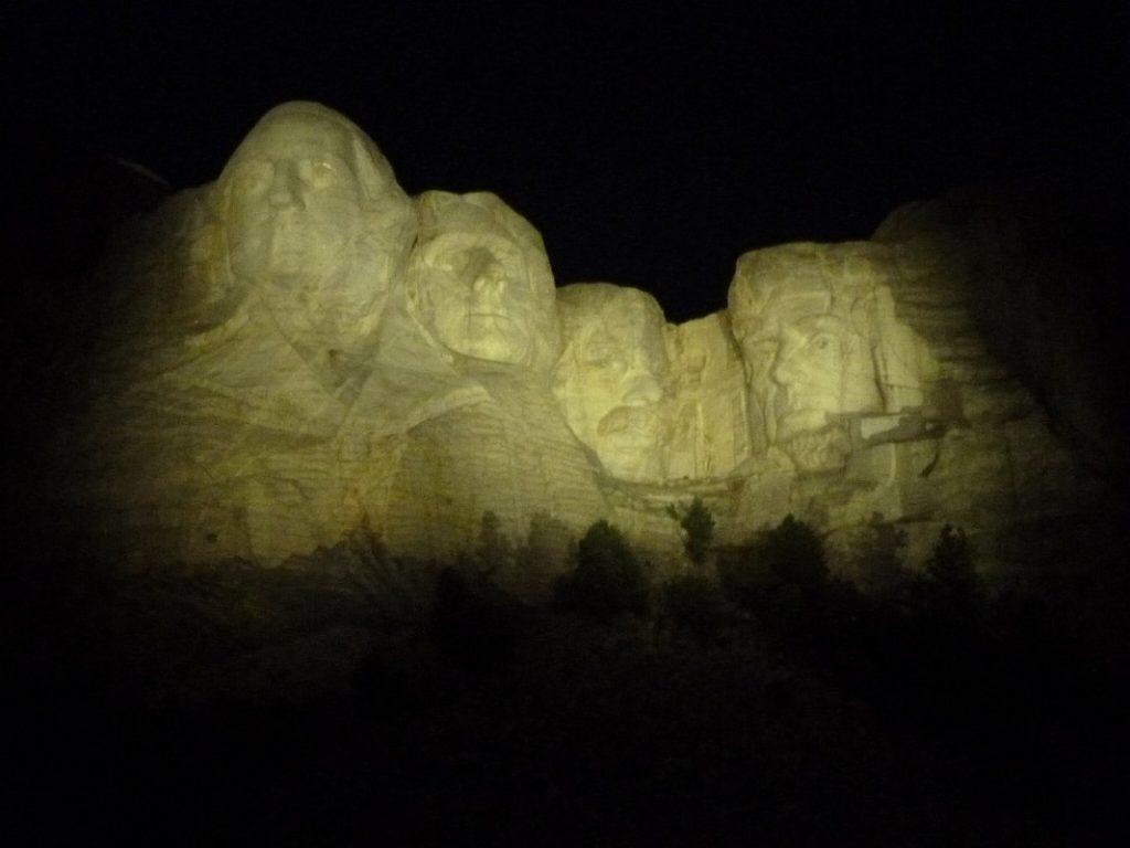 Rapid City Mount Rushmore Floodlit