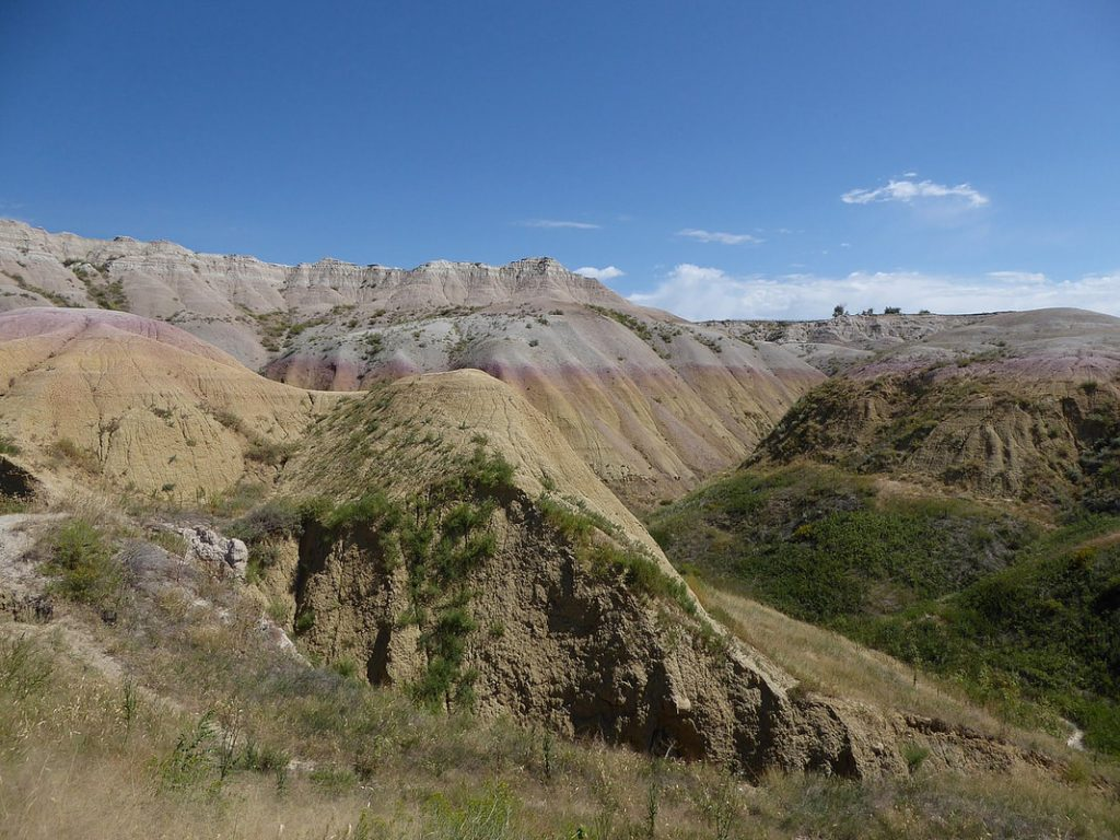Beautiful Sedimentary Rock Colours Badlands National Park