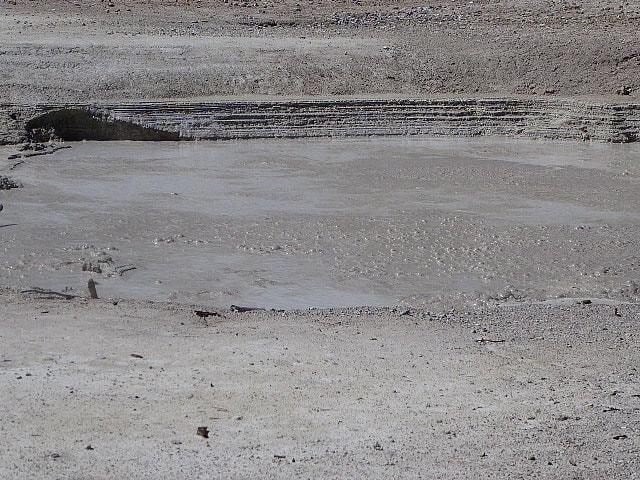 Grand Canyon of Yellowstone Bubbling mud pools Yellowstone NP