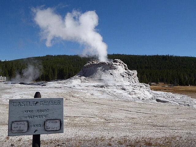 Old Faithful Castle Geyser - Yellowstone NP