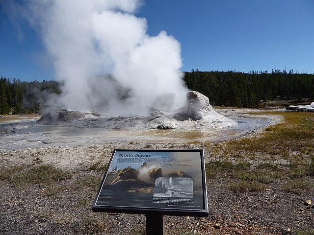Old Faithful Grotto Geyser Yellowstone NP