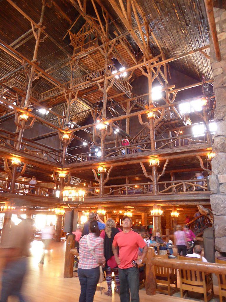 Old Faithful Inside Old Faithful Lodge Yellowstone NP