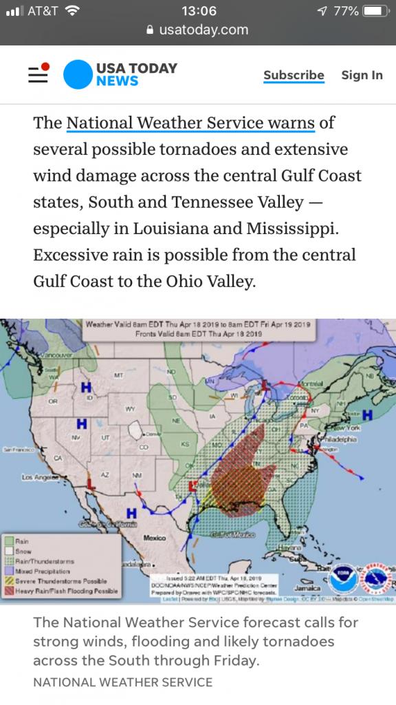 Tornado Warning - Natchez