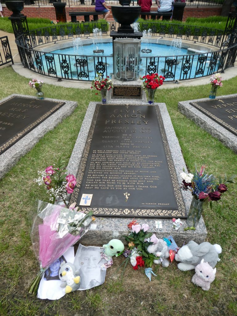 12 things you might not know about Elvis Presley - Deep South USA Elvis Presley's Grave Graceland