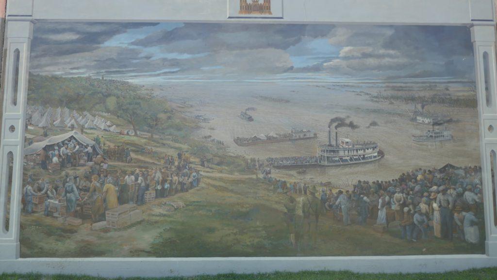 Vicksburg Deep South USA Vicksburg Waterfront Mural - The Great Flood