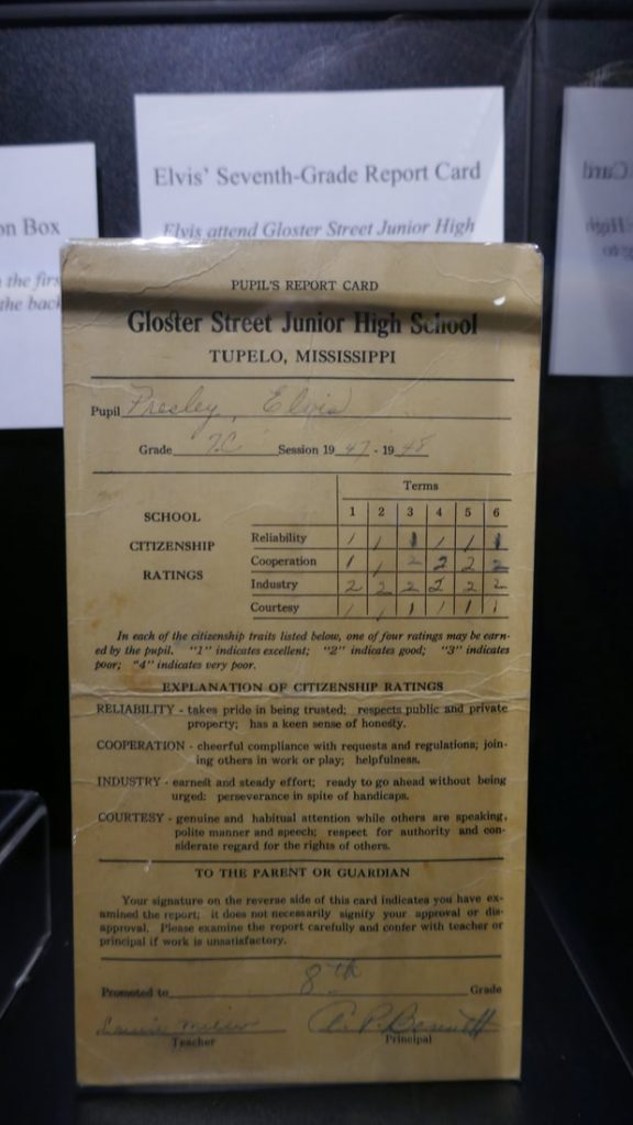 12 things you might not know about Elvis Presley - Deep South USA Elvis's 7th grade report card