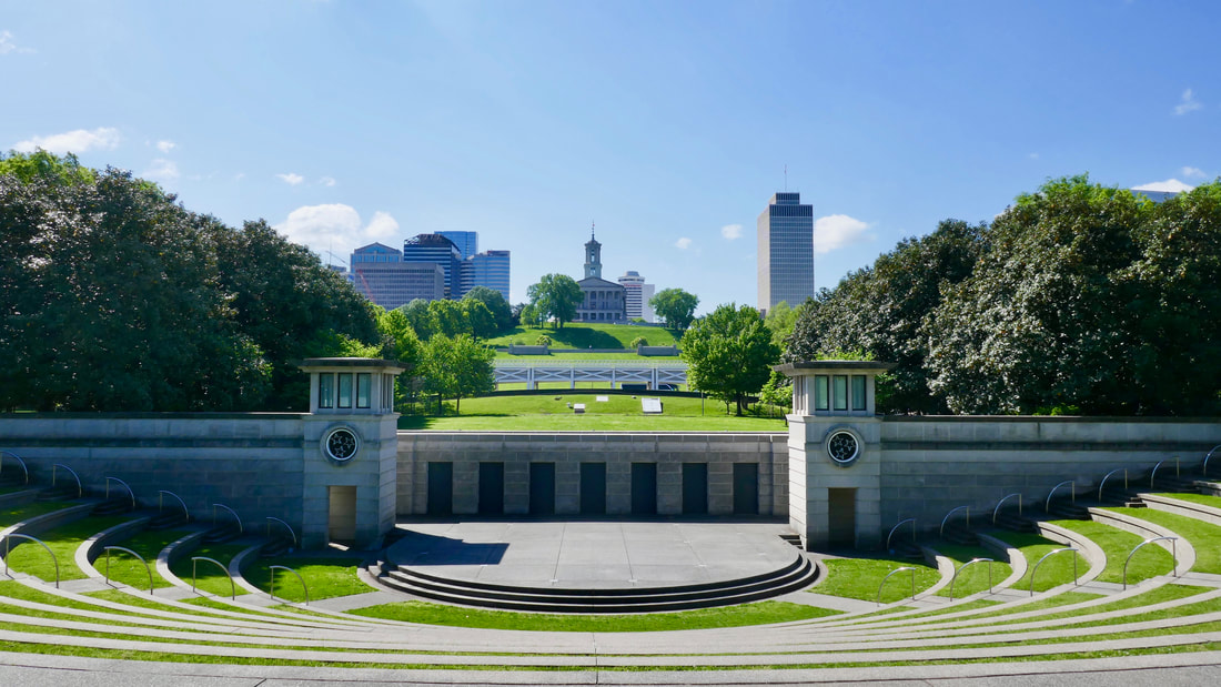 Love can Build a Bridge Deep South USA Nashville State Capitol Building & the stage in the foreground