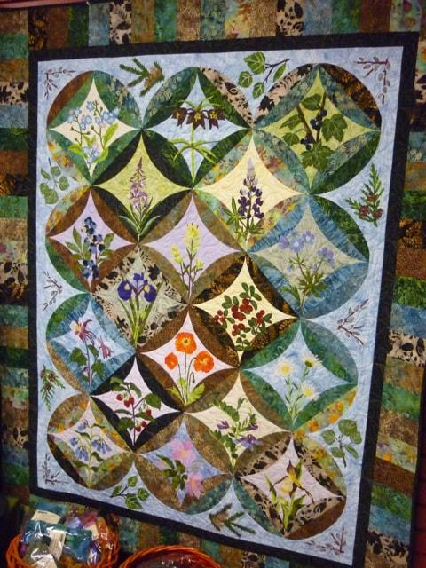 Beautiful Alaskan Wildflower Quilt