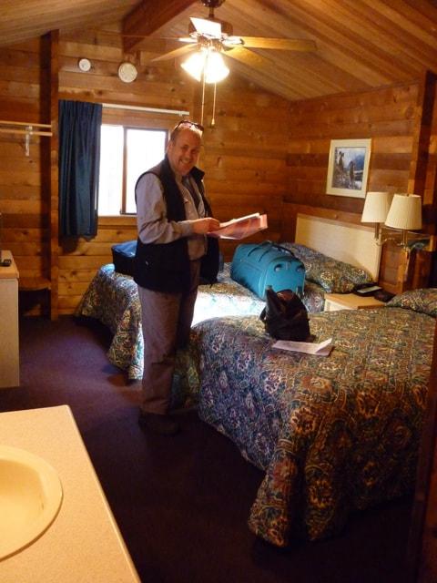 Alaskan Wilderness Denali National Park Denali Cabins Our bedroom at Denali Cabins