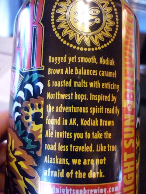 Alaskan Wilderness Denali National Park Kodiak Beer - True Alaskans aren't Afraid of the Dark