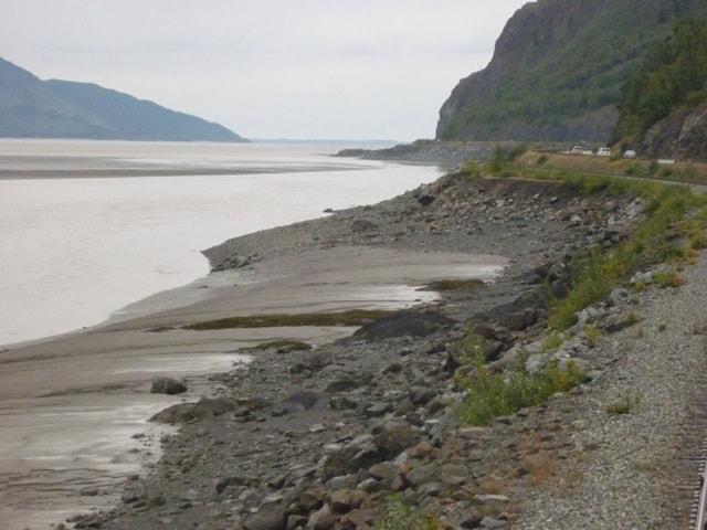 Alaska Beaches from the railroad