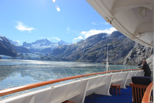 Glacier Bay Sapphire Princess View from Cabin Deck