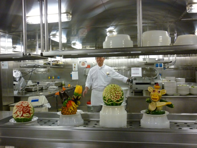 Chef's Table on the Sapphire Princess Fruit Carvings