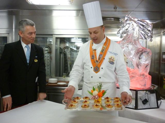 Chef's Table on the Sapphire Princess Crab and Black Truffle Mini Quiche
