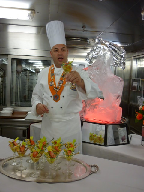 Chef's Table on the Sapphire Princess Chef Antonio with Lobster Margaritas