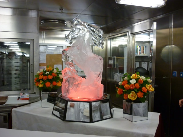 Chef's Table on the Sapphire Princess Ice Carving