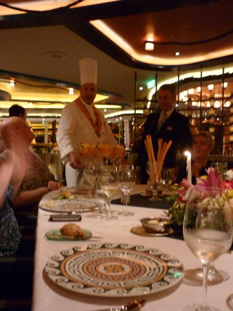 Chef's Table on the Sapphire Princess Orange Sorbet