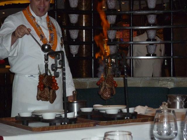 Chef's Table on the Sapphire Princess Steaks Flambé