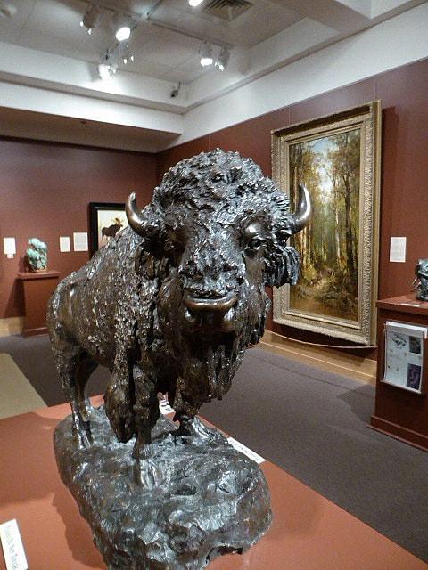 Jackson Elk Buffalo - The Heroic Male - Henry Merwin Shrady 1900 - Bronze sculpture