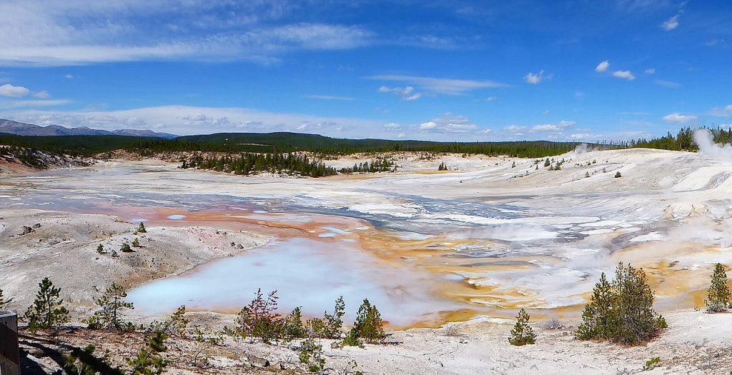 Norris Geyser Basin Porcelain Basin Yellowstone NP
