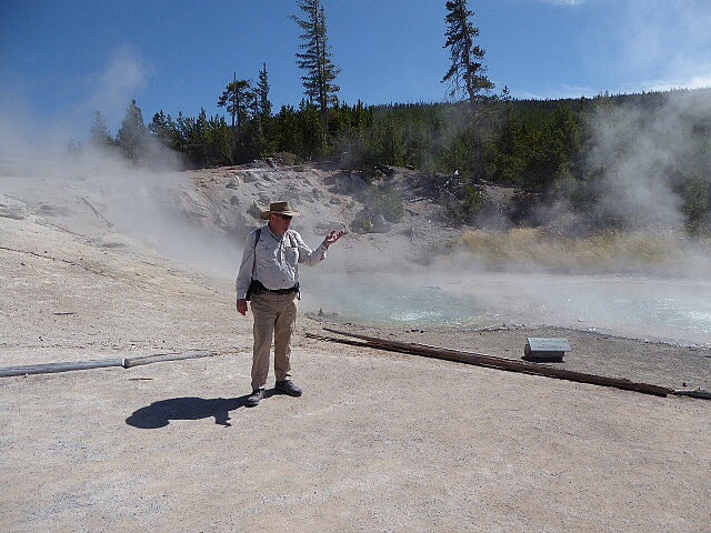 Norris Geyser Basin Yellow Funnel Geyser Yellowstone NP