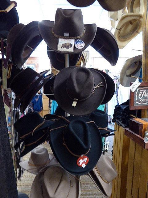 Mammoth Hot Springs Gardiner Saddle Shop Cowboy Hats