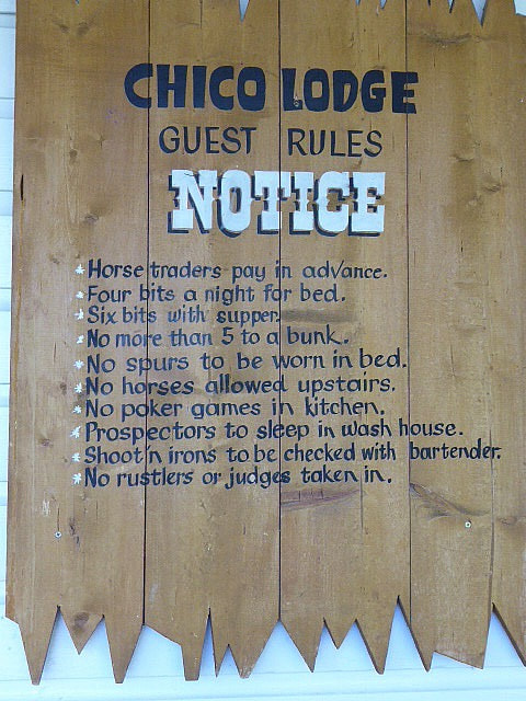 Chico Hot Springs Hotel House Rules