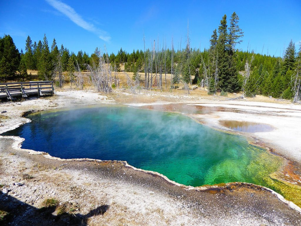 West Thumb Basin Abyss Pool - Yellowstone National Park
