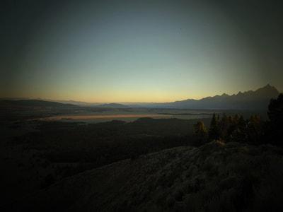 Cascade Canyon Sunset over Signal Mountain Grand Teton National Park