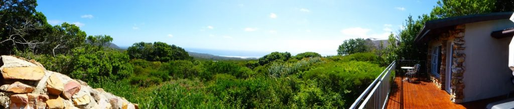Grootboos Private Nature Reserve Accommodation Review - View of Walker Bay from our bedroom terrace