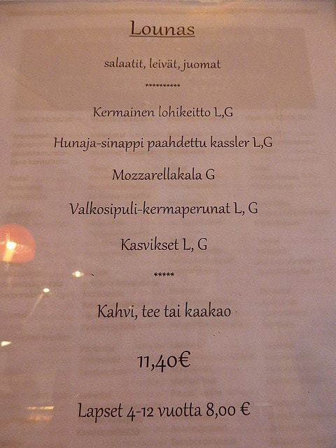 Can Finland get any worse Finnish Menu