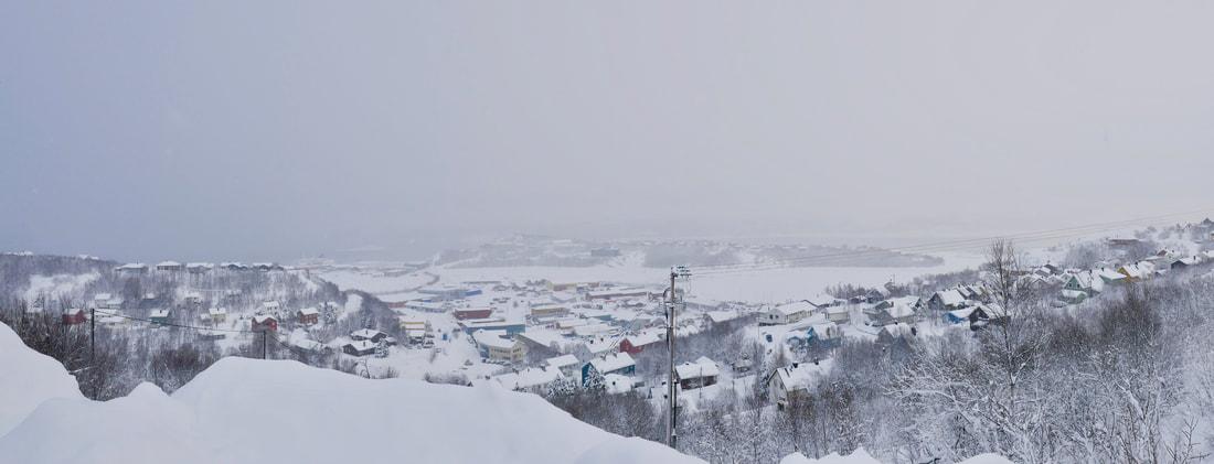 East meets West Snowy Kirkenes