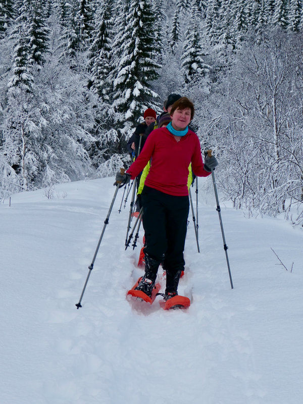 Norwegian snowshoeing