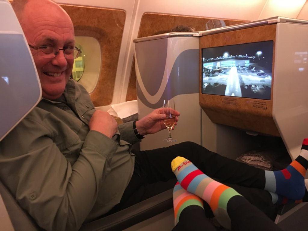 Auckland Emirates Flight socks