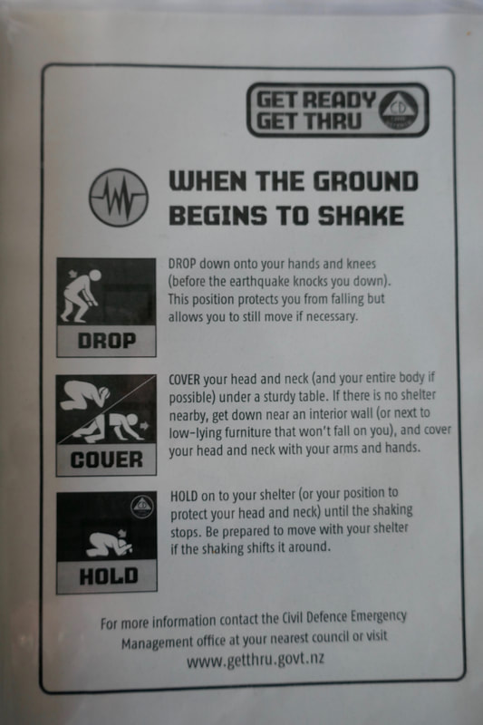 Distinction Wellington Century City Hotel Earthquake Instructions