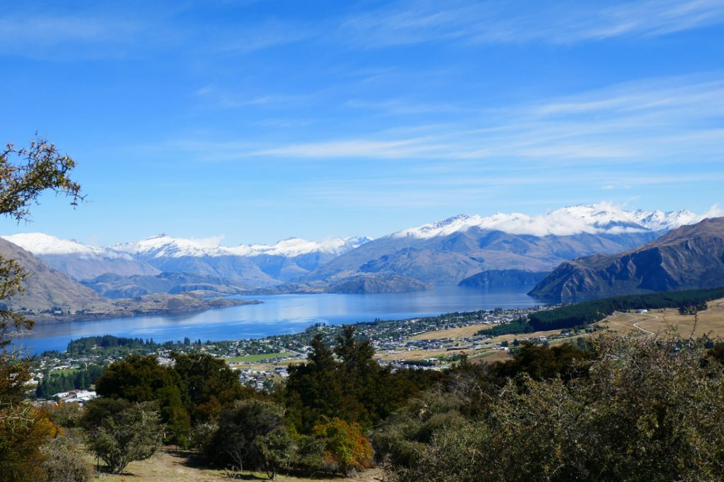 View of Wanaka from Mount Iron