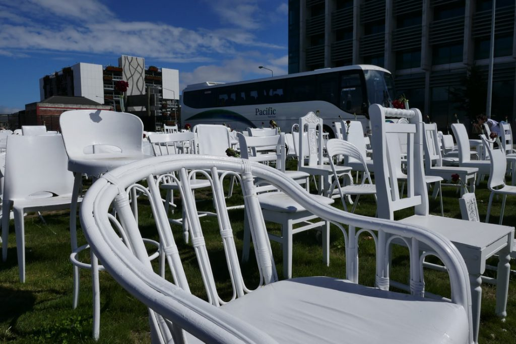 Christchurch Beast from the East 185 White Chairs Memorial Christchurch