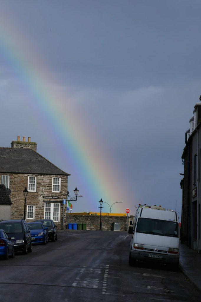 Rainbow over Wick Harbour