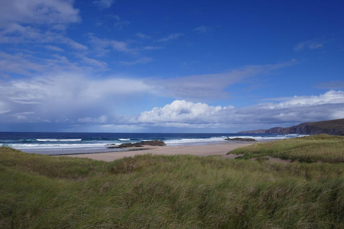 Life is good on Sandwood Bay