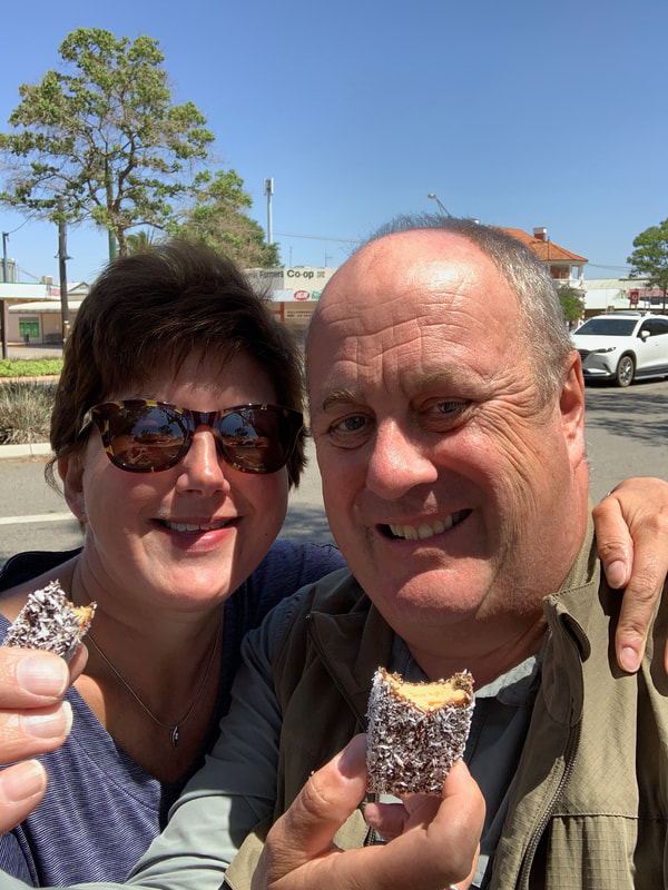 Kalgoorlie to Perth Lamingtons for lunch