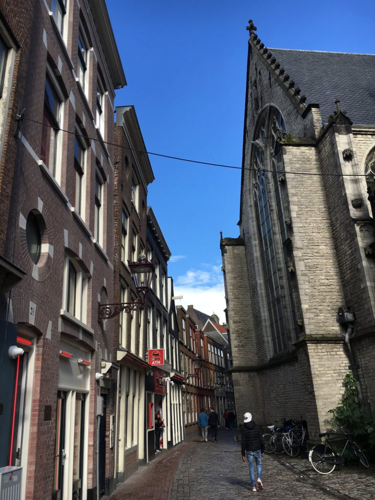 Amsterdam Day 1 Red Light Area - Churches jostle with brothels