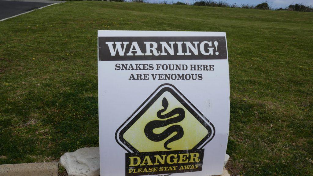 Pemberton WA Snake Warnings