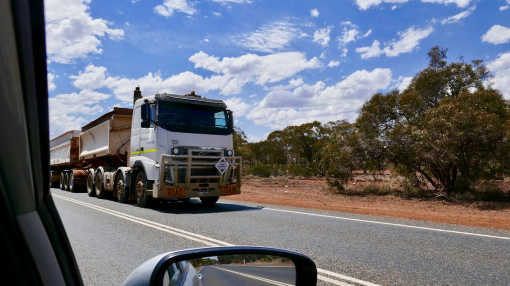 10 Tips for Driving Safely in Australia - WA Road Train