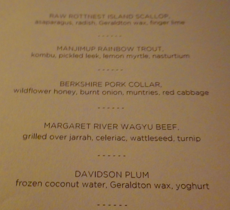 The Tasting Menu - Wildflower Restaurant Perth