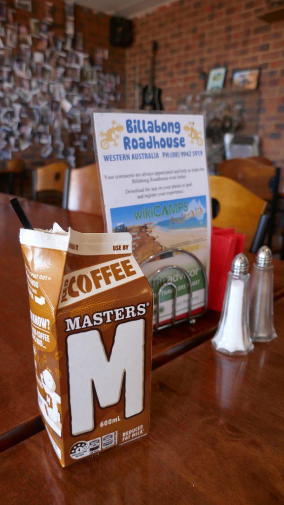 Geraldton to Monkey Mia RUOK? Billabong Roadhouse Iced Coffee