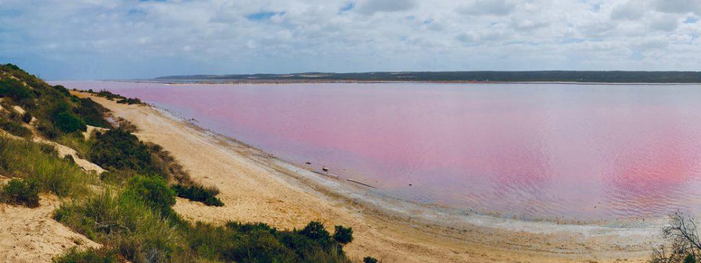 Kalbarri to Cervantes Pink Lake and the Pinnacles Pink Lake WA