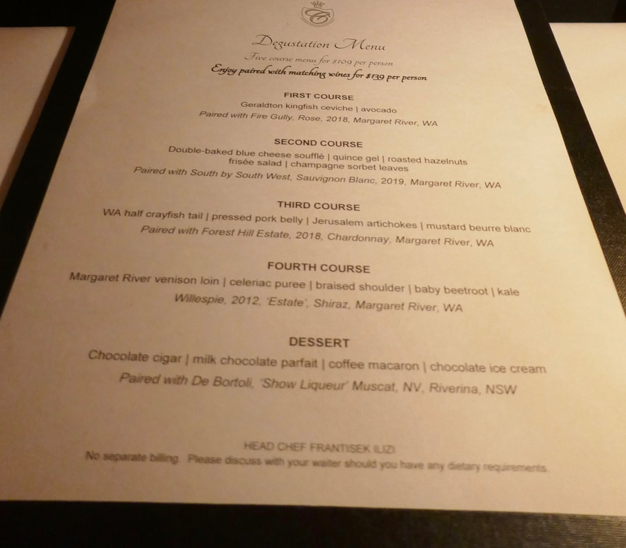 Return to Perth – Fremantle and Dining on top of the World Degustation Menu