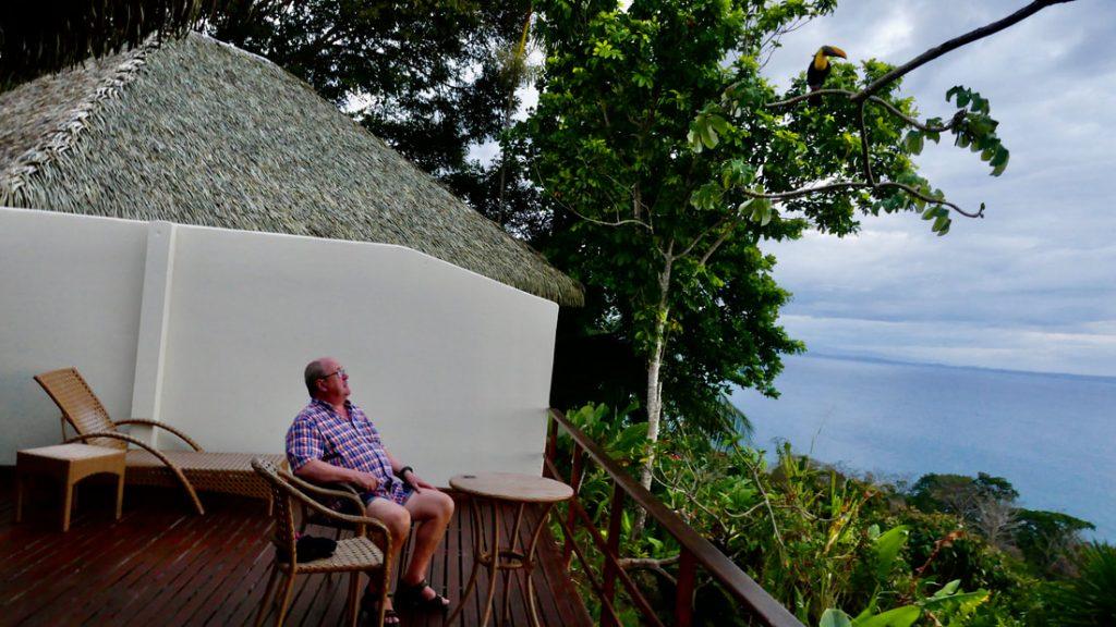 Lapas Rios Eco Lodge - Wildlife spotting on the terrace