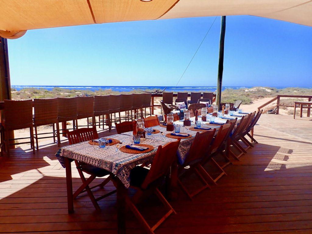 Sal Salis WA - Dining Terrace