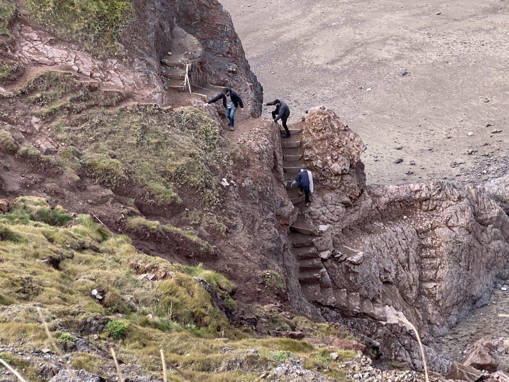 Steps to Pentreath Beach - Shut?!